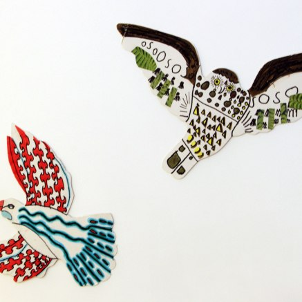 Two birds : Tui & Ruru