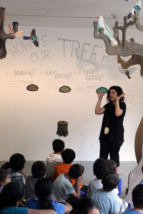 Talking about the data visualisation - a Tree that changes wit the weather and traffic conditions