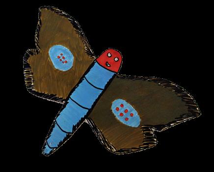Pūriri moth painting